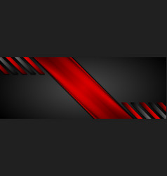 red black abstract corporate glossy background vector image