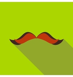 Retro hipster mustache icon flat style vector