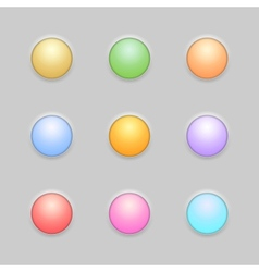 Round Button Template Set vector image