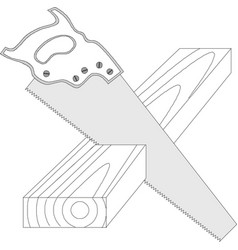 Saw icon isolated on white background hand saw vector