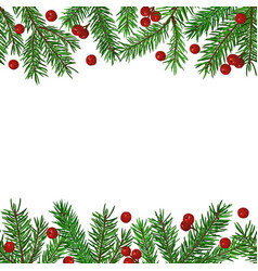 seamless background with realistic green fir tree vector image