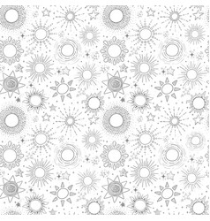 Seamless pattern with grey stars on white vector