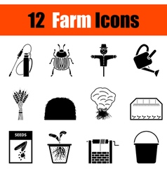 Set of gardening icons vector