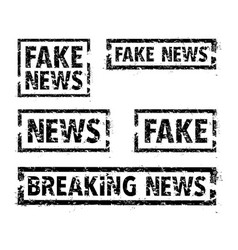 set of news stamps vector image