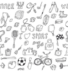 Sketch style sport seamless pattern vector