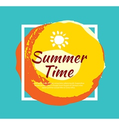 Summer banner brush painting design template vector image