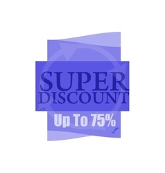 Super discount Sale banner isolated Sale vector
