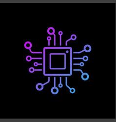 Technology logo template design emblem vector