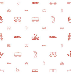 track icons pattern seamless white background vector image