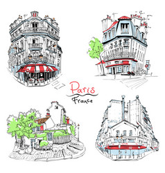 typical parisian housees france vector image