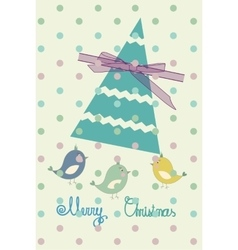 Vintage scrap booking template for merry Christmas vector image