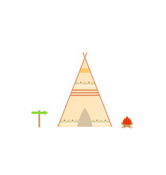 Wigwam on a white background vector