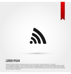 Wireless icon Flat design style Template for vector image