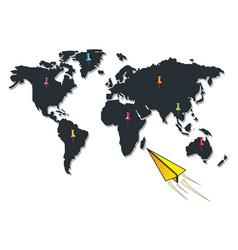 world traveller vector image