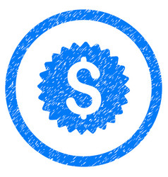 bank seal rounded grainy icon vector image vector image