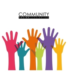 Community people graphic vector