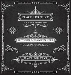 Decorative Chalkboard Design vector image vector image