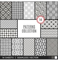 Elegant seamless patterns vector image vector image