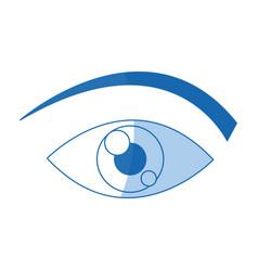 eye cartoon people watch image vector image