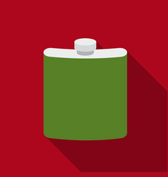 hip flask icon in flat style isolated on white vector image