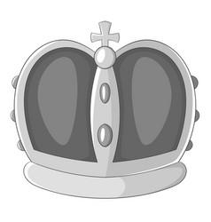 royal crown icon monochrome vector image