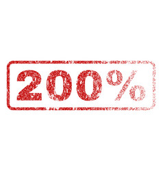 200 percent rubber stamp vector image vector image