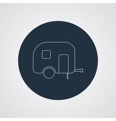 Camping trailer icon Caravan vector image
