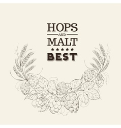 Decorative hops cover vector image