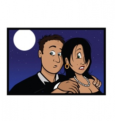 frightened couple vector image vector image