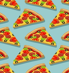 Isometric Pizza seamless pattern Italian food vector image vector image