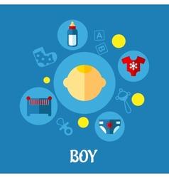 Little Boy Concept Graphic Design vector image vector image