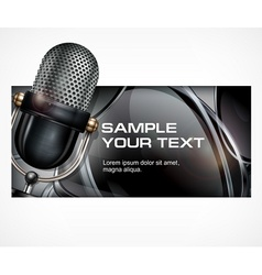 Microphone on black vector image