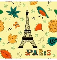 Paris autumn seamless pattern vector image vector image