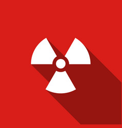 radiation flat icon with long shadow vector image