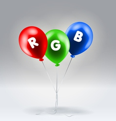 Red Green and Blue inflatable balloons vector image vector image
