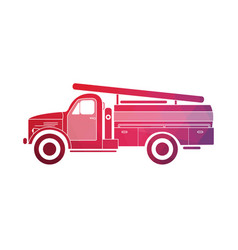 retro fire truck on a white background vector image