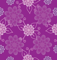 Seamless pattern lilac flowers vector image vector image