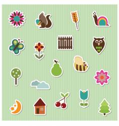 stickers vector image vector image