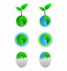 earth symbols vector image vector image