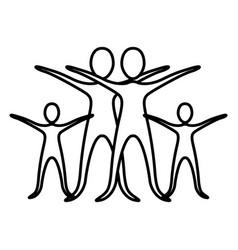 monochrome contour pictogram of practice of ballet vector image