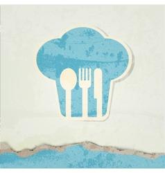 restaurant menu retro poster vector image