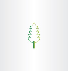 stylized green eco leaf icon design vector image vector image