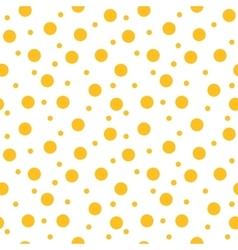 Circle yellow seamless pattern vector image