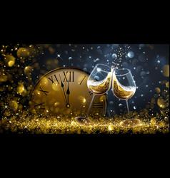 Twelve o clock on new year s eve vector