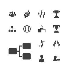 13 team icons vector