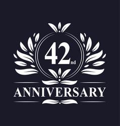 42 years anniversary logo 42nd anniversary vector