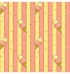 A seamless design with icecreams vector
