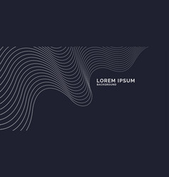 Abstract background with dynamic waves line vector