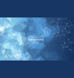 Abstract dark blue polygonal space background vector