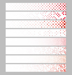 Abstract dot pattern rectangular web banner vector